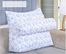 dekorative Kissen, Kissen nach Hause Einfaches Bett Kissen Kissen Sofakissen Bett Pillow Pillow Pillow Pillow Pillow mit dem Core Zurück Stoff Kissen, Nackenkissen , ( größe : 60*50*24cm )