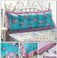 dekorative Kissen, Kissen nach Hause Günstige Baumwolle Bett großes Kissen Bett Rückenlehne Kissen Paar Doppel Kissen gepolstert Stoff Kissen, Nackenkissen , ( Farbe : #9 , größe : 1.2m )