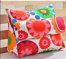 dekorative Kissen, Kissen nach Hause Nacht Dreieck Kissen Taille Rückenpolster Sofa Kissen Kissen Büro Kissen Bett Nackenkissen Stoff Kissen, Nackenkissen , ( größe : 45*50*22cm )