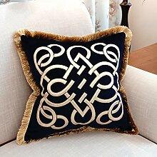 dekorative Kissen, Kissen nach Hause Sofakissen Rückenkissen durch das Paket auf dem Stuhl Kissen Bett mit Fransen haltigen Kern Stoff Kissen, Nackenkissen , ( größe : 45*45cm )