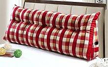 dekorative Kissen, Kissen nach Hause Triangle Kissen-Sofa-Kissen Doppelbett Soft Bag Kissen mit großem Bett Kissen Schlafsofa Rückenkissen Stoff Kissen, Nackenkissen , ( größe : 120*20*50cm )