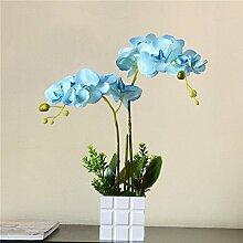 Dekorative Künstliche Blumen Orchidee Hölzerne Blumentöpfe Blaue Braut Zubehör Kunst Handwerk Haus Garten Dekoration -XHOPOS HOME