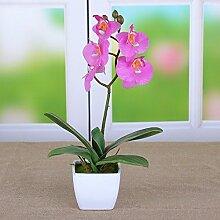 Dekorative Künstliche Blumen Orchidee Weiße Keramik Vase Rosa Braut Zubehör Kunst Handwerk Haus Garten Dekoration -XHOPOS HOME