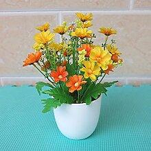 Dekorative Künstliche Blumen Pflanze Gänseblümchen-Kette Orange Braut Zubehör Kunst Handwerk Haus Garten Dekoration -XHOPOS HOME