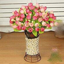 Dekorative Künstliche Blumen Pflanze Rose Rosa Braut Zubehör Kunst Handwerk Haus Garten Dekoration -XHOPOS HOME