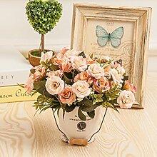Dekorative Künstliche Blumen Pflanzen Rose Toner Zubehör Kunst Kunsthandwerk Home Garten Dekoration XHOPOS HOME
