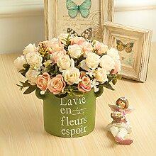 Dekorative Künstliche Blumen Rose Rosa 31 * 19Cm Braut Zubehör Arts Crafts Home Garten Dekoration -XHOPOS HOME