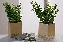 Dekorative künstliche Pflanze Zimmerbambus Bambus Dekopflanze flower Blume