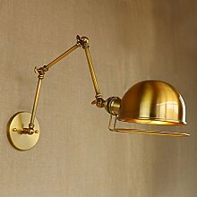Dekorative lange Eisenarm-Wandlampe der