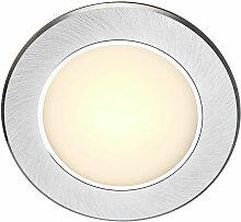 Dekorative LED Einbaustrahler Aluminium Glas opal
