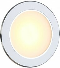 Dekorative LED Einbaustrahler Aluminium weiß Glas