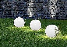 Dekorative LED Solarleuchte MARLA Durchmesser 25cm