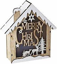 Dekorative LED-Weihnachtshütte, weihnachtliche Dekoration, warmes Licht, Haus