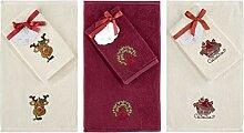 Dekorative Luxus Handtuch Set-3Stück