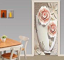Dekorative Malerei 3d Türaufkleber