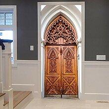 Dekorative Malerei 3d Türaufkleber Retro Islam