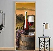 Dekorative Malerei 3d Türaufkleber Weingut