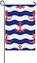 Dekorative Outdoor-Flagge, doppelseitig, maritime