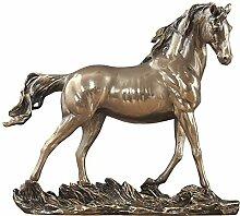 Dekorative Pferd Statue, Kaltguss Bronze Pferd