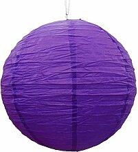 Dekorative purpurrote Papierlampenschirm Laterne Festliches Weihnachtsparty hängen Dekor