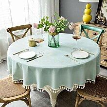 Dekorative Runde Tischdecke Mit Fransen,