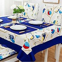 Dekorative Tischdecke aus Jacquard/Baumwollleinen,