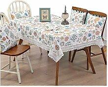 Dekorative Tischdecke Leinen Tischdecke