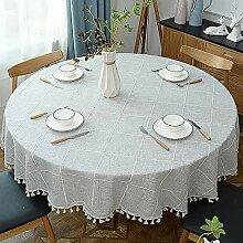 Dekorative Tischdecke Mit Fransen/Runde