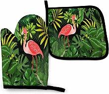 Dekorative Tropische Flamingo B Vintage