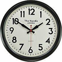 Dekorative Wand Uhr/Im Nordischen Stil Stille Wanduhren/Vintage Dorf Antike Wanduhr - Ein 14 Zoll