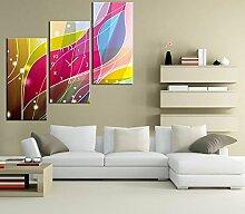 Dekorative Wandbilder Wanduhr Frameless art Abstract Farbe Serie Wohnzimmer Dekoration Leinwand gemalt Wanduhr , 30*60cm