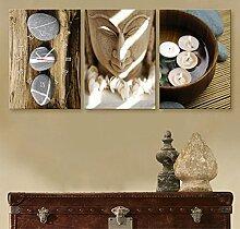 Dekorative Wandbilder Wanduhr Frameless Kunst Buddha Wohnzimmer Leinwand gemalt Wanduhr , 24 width *34 high cm