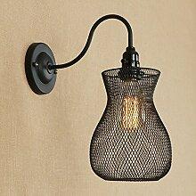 Dekorative Wandlampe des Retro- Eisenkopfes mit