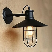 Dekorative Wandlampe Retro-Einzelkopf aus Eisen, A.