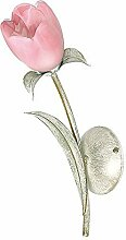 Dekorative Wandleuchte in Rosa Grün Floral Shabby Chic 1x E14 bis zu 60 Watt 230V aus Glas & Metall Flur Wohnzimmer Esszimmer Lampen Leuchte Wandlampe innen