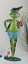 Dekorativer Badefrosch Frosch Garten Deko ca. 85
