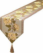 Dekorativer Damast Vintage Design Tischläufer mit