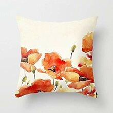 Dekorativer Kissenbezug mit Blumenmuster, für