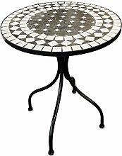 Dekorativer mediteraner Mosaik Tisch Kreis Design