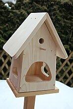 Dekorativer Nistkasten (N2) -mit Vogelfutterhaus