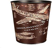 Dekorativer Papierkorb, Vintage-Mülleimer kann