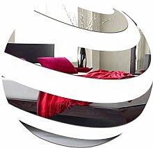 Dekorativer Spiegel BALL, modernes Design Dekoration, 3mm Acryl-Spiegel aus der EU, Wohnzimmer, Schlafzimmer, Flur, unzerbrechlich, DIY-Heimtextilien, Silber, hergestellt in der EU