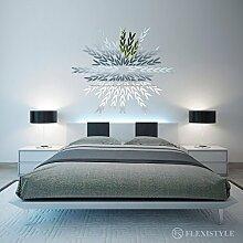 Dekorativer Spiegel LAVENDER 120cm, modernes Design Dekoration, 3mm Acryl-Spiegel aus der EU, Wohnzimmer, Schlafzimmer, Flur, unzerbrechlich, DIY-Heimtextilien, Silber, hergestellt in der EU