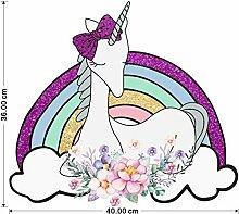 Dekorativer Wandaufkleber,Regenbogen Blumen
