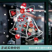 Dekorativer Weihnachtsglasaufkleber Fenster
