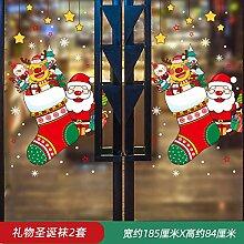 Dekorativer Weihnachtsmann Glasaufkleber