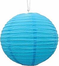 Dekoratives blaues Papier-Lampenschirm Laterne Festliches Weihnachtsparty hängen Dekor
