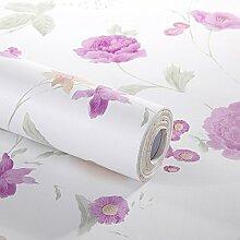 Dekoratives Blumenmuster Kontakt Papier selbstklebend Schubladen Regal rutschsicher herausnehmbare Regalböden schälen und Stick Tapete für Schublade Möbel Wand Dekoration 45 x 500 cm