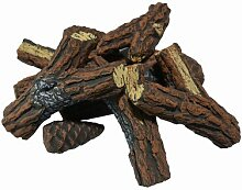 Dekoratives Brennholz aus Keramik