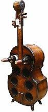 Dekoratives kreatives hölzernes Cello-Weinregal
